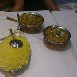 Beef Jalprezi, Chicken Korma and Saffron Rice