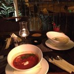 Солянка и сырный суп с лососеммм...
