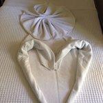 Towels in room