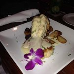 Lobster tail and crab cake