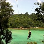 at the Gaya Island Zipliner Station