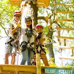 3 Ropes Courses in the High Ropes Adventure Park at Frontier Town