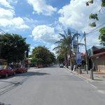 Pantai Cenang main road outside the hotel