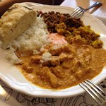 Indian butter chicken special & a side of the best focaccia outside Italy 5E
