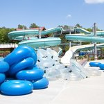 Tubin' Flumes in the Water Park at Frontier Town