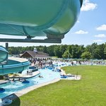 Lazy River & Tubin' Flumes in the Water Park at Frontier Town