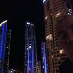 Surfers Paradise at night.