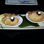 Lobster tempura.