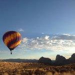 Balloon flight on property