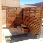 Private outdoor jacuzzi of spa