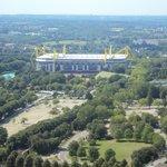 Blick vom Florian aufs Stadion