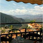 The view from our table at lunch during our trip to Delphi