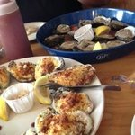 chargrilled oysters and fresh oysters