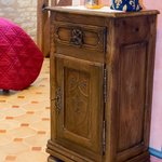 Furniture with the carved fleur-de-lys