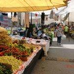 Cycling through a market