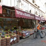 Past shops where the locals shop