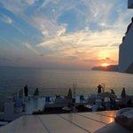 Sunset from blue bar.