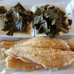 Catfish and double Collard Greens
