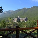 View of the Fairmont Banff Springs from surprise corner