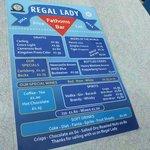 Regal Lady - menu