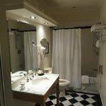 Bathroom had tub AND shower!