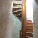 Escada interna de acesso a torre