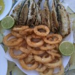 Calamari e sardine fritte