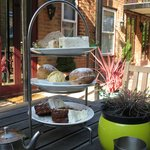 High tea in the courtyard