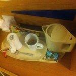 CAFE, TE Y LECHE EN LA HABITACION