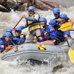 Another picture of us going through rapids.