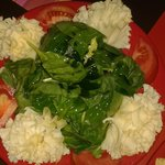 ensalada de espinacas con queso
