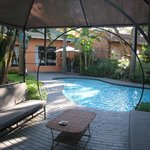 The subtropical garden and pool