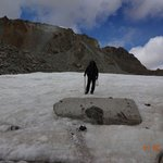 Glacier on top of the pass + me ...
