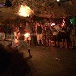 Cave party excursion