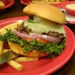 Lettuce on bottom makes for slippery burg eating experience.