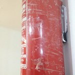 taped up fire extinguisher