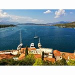 The view from the clock tower at Poros