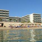 Hotel zicht van de zee