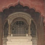 The throne in Diwan-i-aam