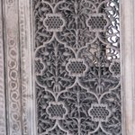 Marble latticework - notice the damage