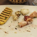 grilled calamari and polenta, looked much nicer before I ate half