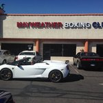 Outside mayweather's gym