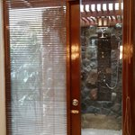 The entry to the ourdoor shower of bedroom#1