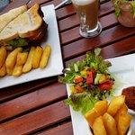 Club Sandwich & Sausage, Cheese & Red Onion Panini