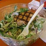 Salada montada no almoço