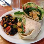 chicken wrap with mango salsa