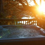 Hot tub on deck of Captains Quarters