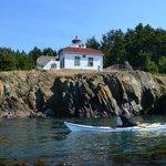 An old lighthouse on Burrow's Island