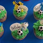soccer cupcakes I ordered they were good