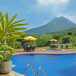 Arenal Volcano View from Sura Pool